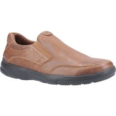 Hush Puppies Mens Aaron Slip On Shoes - Brown