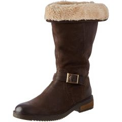 Hush Puppies Womens Bonnie Mid Calf Leather Boots - Brown
