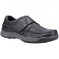 Hush Puppies Mens Casper Velcro Shoes - Black