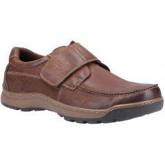 Hush Puppies Mens Casper Velcro Shoes - Brown