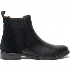 Hush Puppies Womens Chloe Leather Chelsea Boots - Black