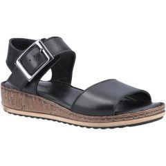 Hush Puppies Womens Ellie Wedge Sandals - Black