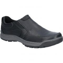 Hush Puppies Mens Jasper Slip On Shoes - Black