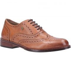 Hush Puppies Womens Natalie Leather Brogue Shoes - Tan