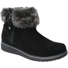 Hush Puppies Womens Penny Warm Lined Ankle Boot - Black