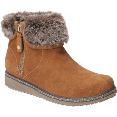 Hush Puppies Womens Penny Warm Lined Ankle Boot - Tan