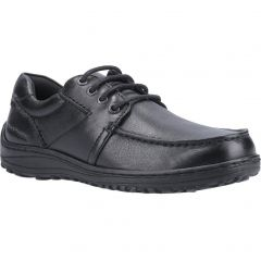 Hush Puppies Mens Theo Wide Fit Shoes - Black