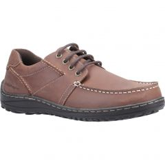 Hush Puppies Mens Theo Wide Fit Shoes - Brown