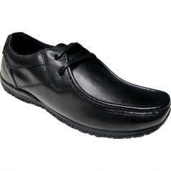 Ikon Mens Tide Leather Lace Up Shoes - Black