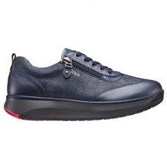 Joya Womens Laura Casual Leather Trainers - Dark Blue