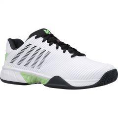 K-Swiss Mens Hypercourt Express 2 HB Tennis Shoes - White Blue Graphite Soft Neon Green