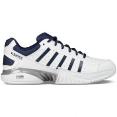 K Swiss Mens Receiver IV Tennis Trainers Shoes - White Navy