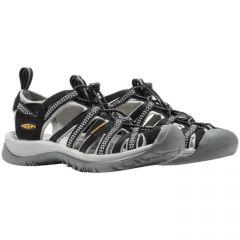 Keen Whisper Womens Waterproof Sandals - Black Neutral Grey
