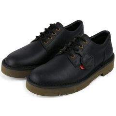 Kickers Mens Daltrey Derby Leather Shoes - Black