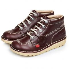 Kickers Kids Kick Hi Classic Ankle Boots - Dark Red
