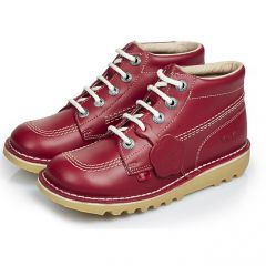 Kickers Womens Kick Hi Core Classic Ankle Boots - Red