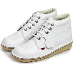 Kickers Womens Classic Kick Hi Core Ankle Boots - White