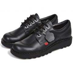 Kickers Mens Kick Lo Core Work School Shoes - Black
