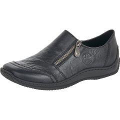 Rieker Womens Celiazi L1771 Slip On Zip Up Shoes - Black