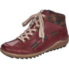 Rieker Womens L7543 Chukka Boots - Red Wine