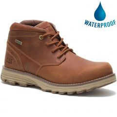 Caterpillar Mens Elude Waterproof Ankle Boots - Leather Brown