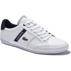 Lacoste Mens Chaymon 120 Trainers - White Navy Red
