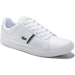 Lacoste Mens Europa 120 Trainers - White Grey