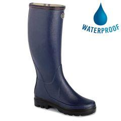 Le Chameau Womens Giverny Wellies Rain Boots - Marine