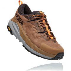 Hoka One One Mens Kaha Low GTX Waterproof Walking Shoes - Otter Persimmon Orange