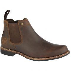 Woodland Mens Leather Chelsea Boots - Brown