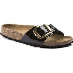 Birkenstock Womens Madrid Big Buckle Sandals - Black Patent