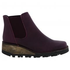 Oxygen Womens Medway Ankle Wedge Boots - Purple