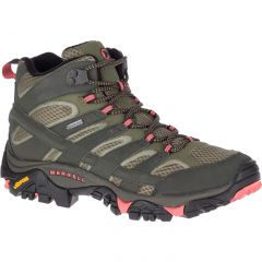 Merrell Womens Moab 2 Mid GTX Waterproof Walking Boots - Beluga Olive