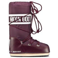 Moon Boots Womens Nylon Boots - Burgundy