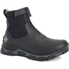 Muck Boots Mens Apex Zip Short Ankle Wellies - Black