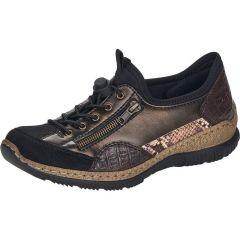 Rieker Womens N3261 Shoes - Black Schwarz