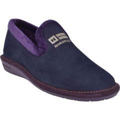 Nordikas Womens Nicola 305 Outdoor Indoor Sole Wedge Slippers - Marino Blue