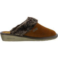Nordikas Womens 1357 Top Line Slippers - Afelpado Cuero