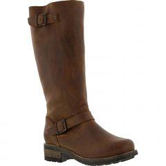 Oak & Hyde Womens Bridge Tall Leather Boots - Cesar Cognac