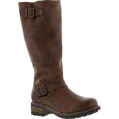 Oak & Hyde Womens Bridge Tall Leather Boots - Cesar Brown