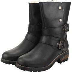 Oak & Hyde Womens Bridge Demi Ankle Boots - Black