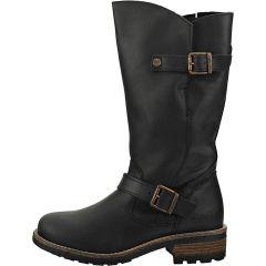 Oak & Hyde Womens Crest Leather Boots - Black