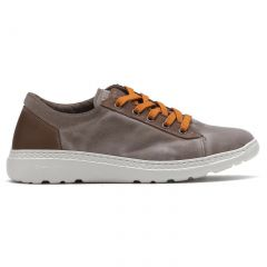 On Foot Mens Basket Canvas Lace Up Trainers Shoes - Marron