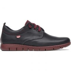 On Foot Mens Blucher Lace Up Leather Casual Shoes - Marino