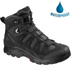 Salomon Mens Quest Prime GTX Waterproof Walking Hiking Boots - Phantom Black Quiet Shade