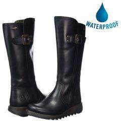Fly London Womens Shap GTX Waterproof Wedge Boots - Black
