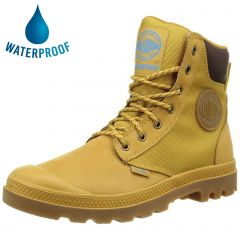Palladium Mens Pampa Sport Cuff WPN Waterproof Leather Combat Ankle Boots - Amber Gold