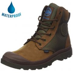 Palladium Mens Pampa Sport Cuff WPN Waterproof Leather Combat Ankle Boots - Brindle Brown