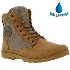Palladium Mens Pampa Sport Cuff WPN Waterproof Boots - Deer Brown