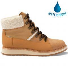 Toms Womens Mesa Waterproof Ankle Boot - Tan Suede
